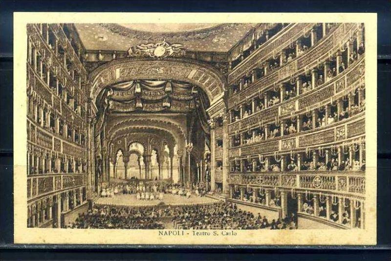 K10671)Ansichtskarte: Neapel, Teatro S. Carlo