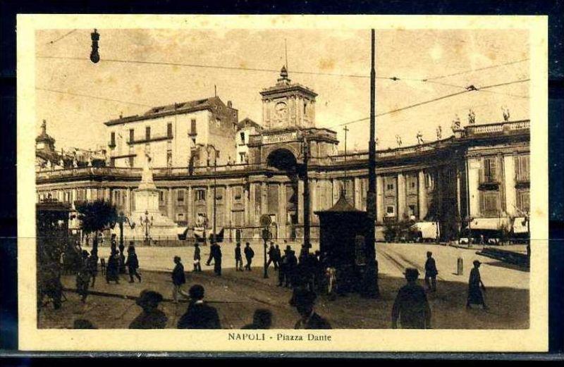 K10668)Ansichtskarte: Neapel, Piazza Dante