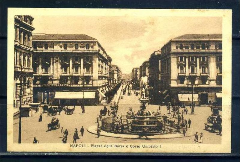K10666)Ansichtskarte: Neapel, Piazza della Borsa