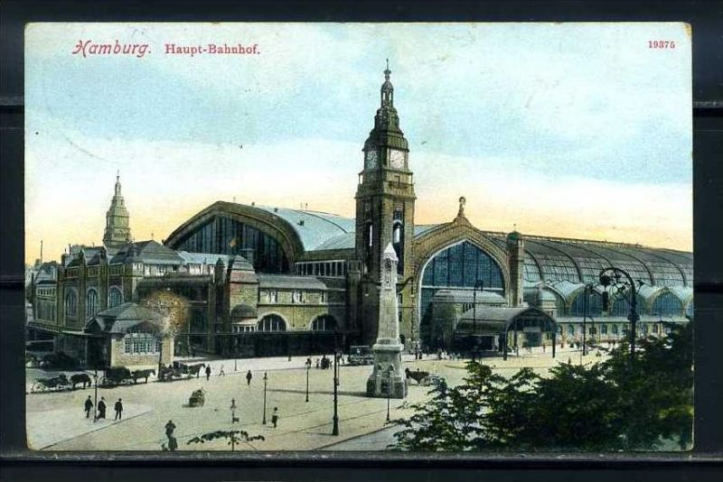 K10473)Ansichtskarte: Hamburg, Bahnhof
