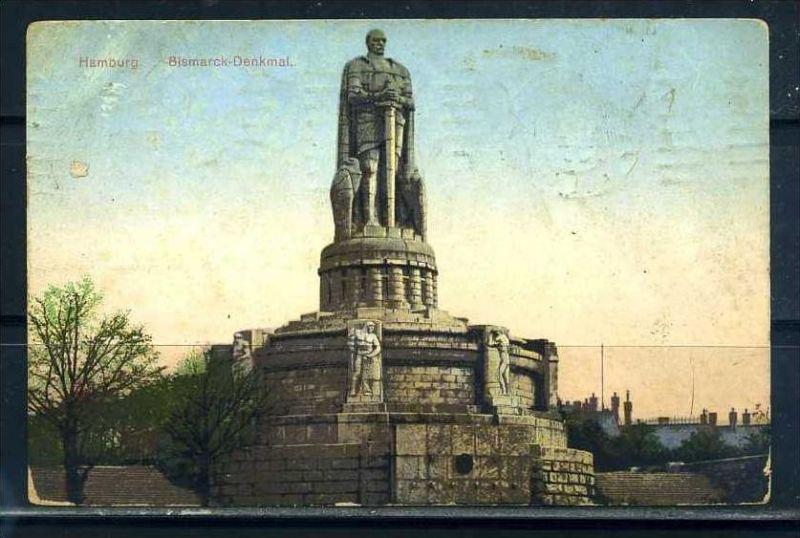 K10470)Ansichtskarte: Hamburg, Bismarck-Denkmal