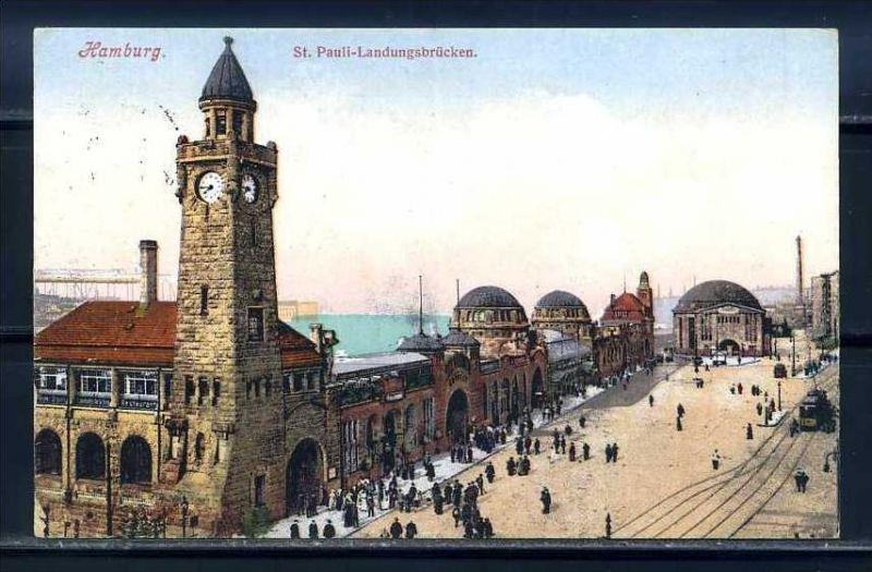 K10469)Ansichtskarte: Hamburg, Landungsbrücken