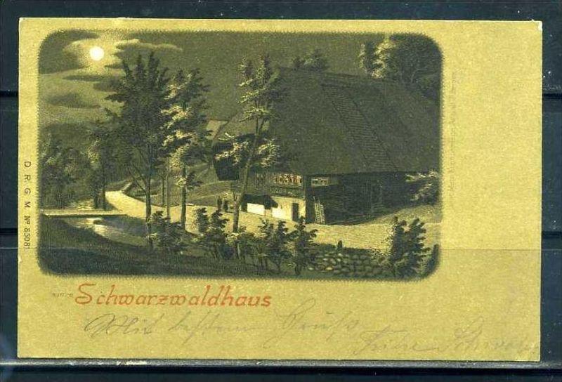 K10440)Ansichtskarte: Schwarzwaldhaus 1898