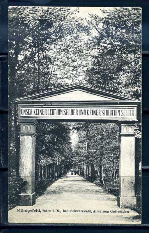 K10421)Ansichtskarte: Königsfeld, Friedhofstor