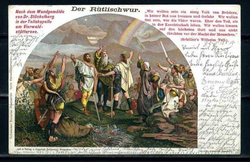 K9548)Ansichtskarte: Der Rütlischwur