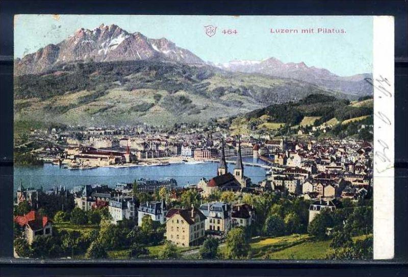 K9426)Ansichtskarte: Luzern mit Pilatus