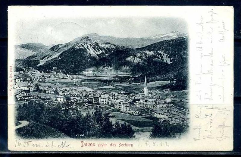 K9396)Ansichtskarte: Davos