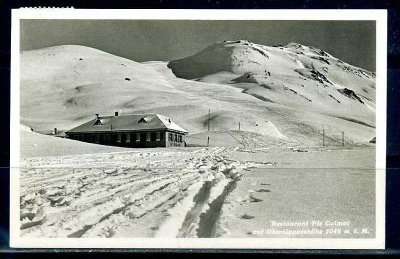 K9392)Ansichtskarte: Restaurant Piz Calmot auf Oberalppasshöhe
