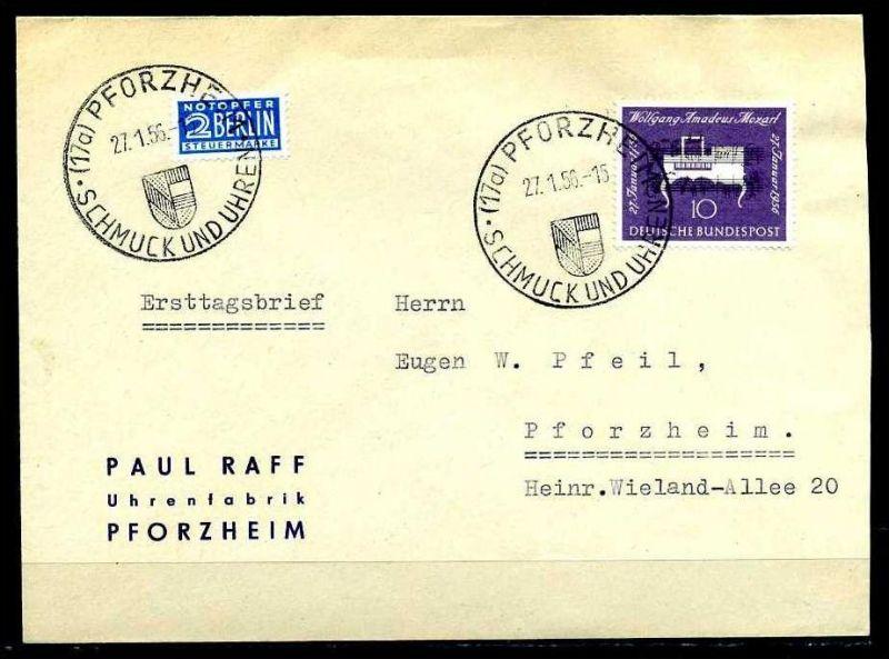 D750)Bd FDC 228 Mozart Brief