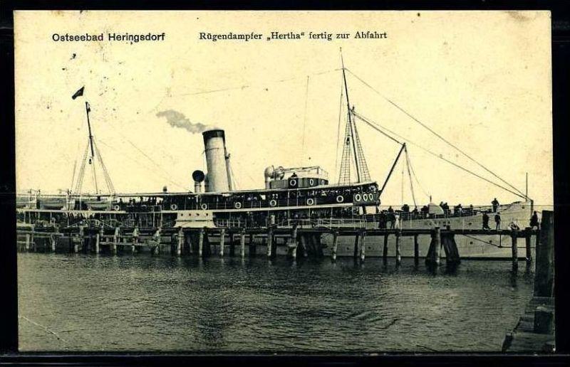 K2038)Ansichtskarte Passagierschiff Hertha