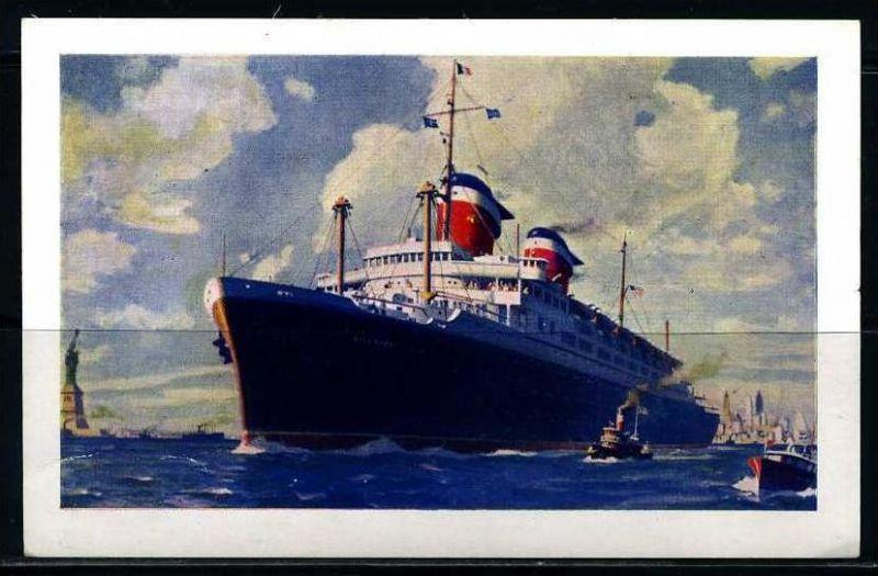 K2011)Ansichtskarte Passagierschiff SS America