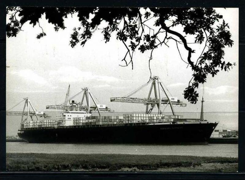 K1981)Ansichtskarte Frachter Hamburg Express