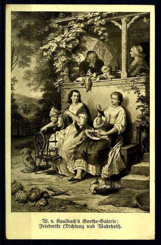 M15347)AK Kunstkarte Kaulbach - Goethe-Galerie
