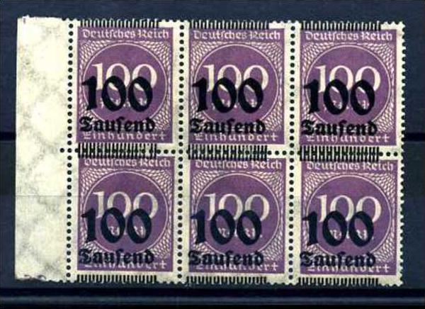 Z13978)DR 289 b 6er-Block**, Aufdruckabart