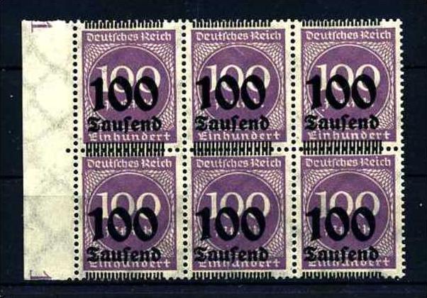 Z13979)DR 289 b 6er-Block**, Aufdruckabart