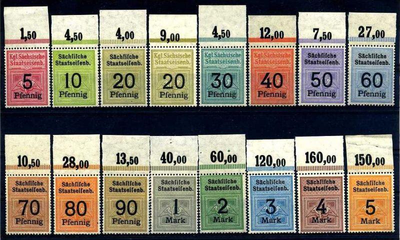 Z14979)Eisenbahnmarken der Sächsischen Staatseisenbahn**, OR-Satz