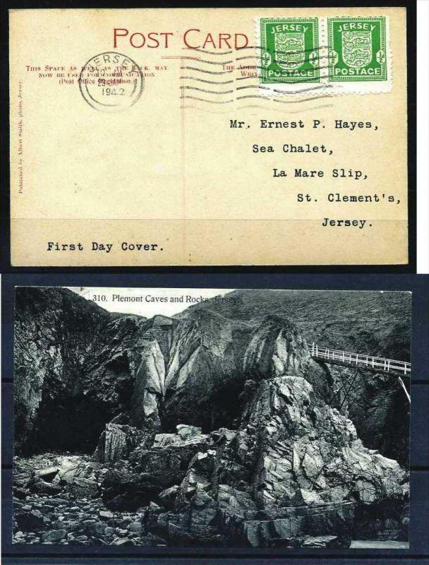 Z18056)Jersey 1 FDC Fotokarte