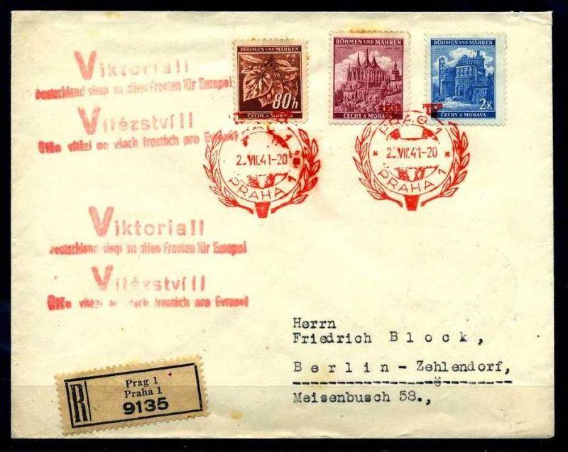 Z20210)B&M E-Brief mit Victoria-Stempel