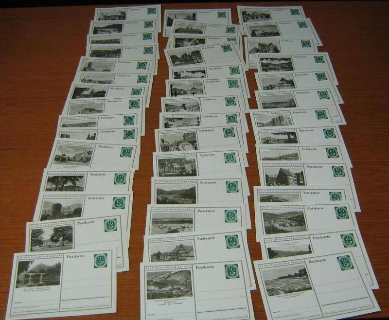 Z23926)Bund Posthorn-GA P 17, 44 verschiedene, ungebraucht