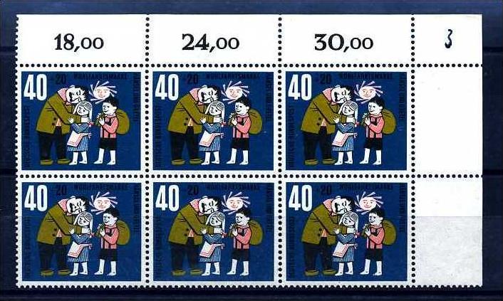 Z24625)Bund Plattenfehler 372 I, ER-6er-Block**