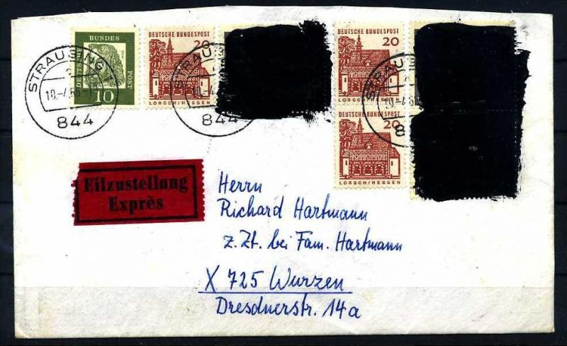 Z25853)Bund 479 Postkriegsbeleg