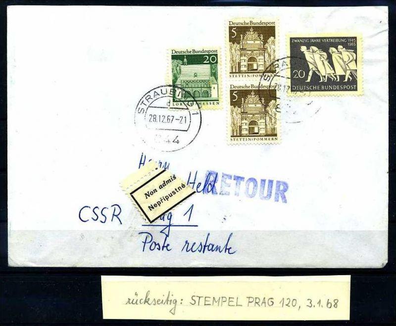 Z25855)Bund 479 Postkriegsbeleg