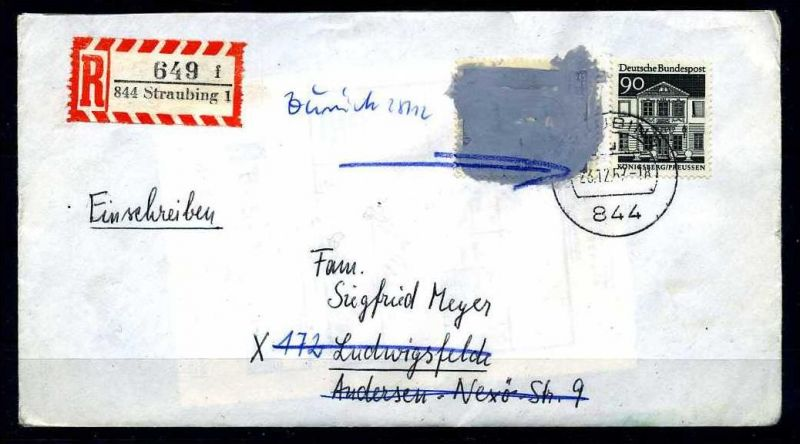 Z25856)Bund 479 Postkriegsbeleg