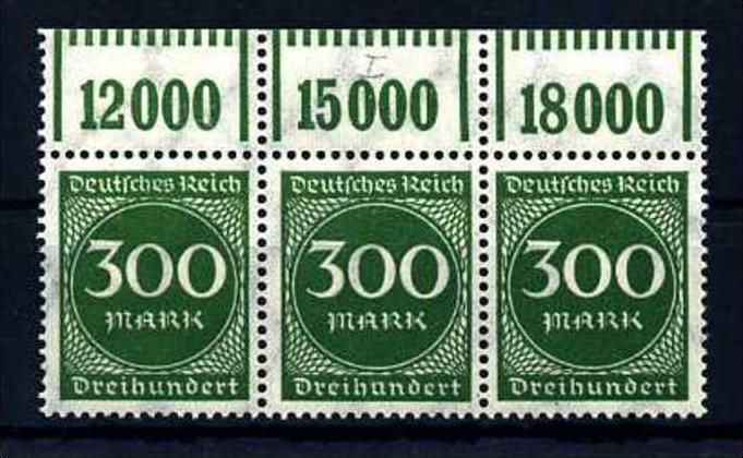 Z28058)DR Plattenfehler 270 I OR-3er-Streifen**, best. gepr. Peschl