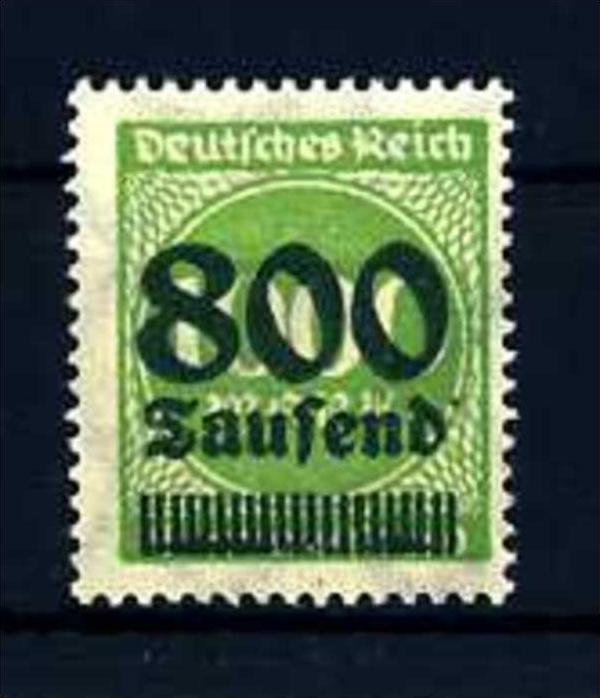 Z28068)DR Plattenfehler 308 a II**, best. gepr. INFLA