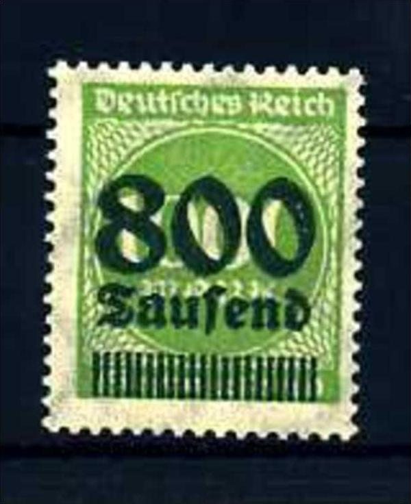 Z28069)DR Plattenfehler 308 a II**, best. gepr. INFLA