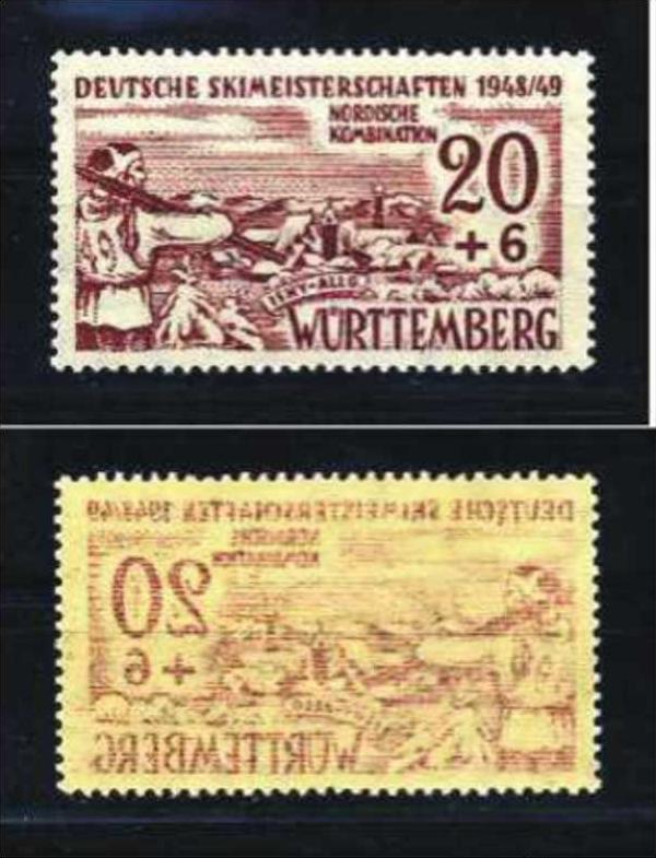 Z30465)Franz. Zone Württemberg 39 Vollabklatsch**