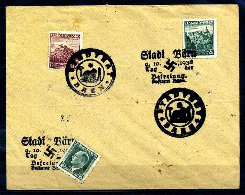 Z31250)Sudetenland interessanter Brief