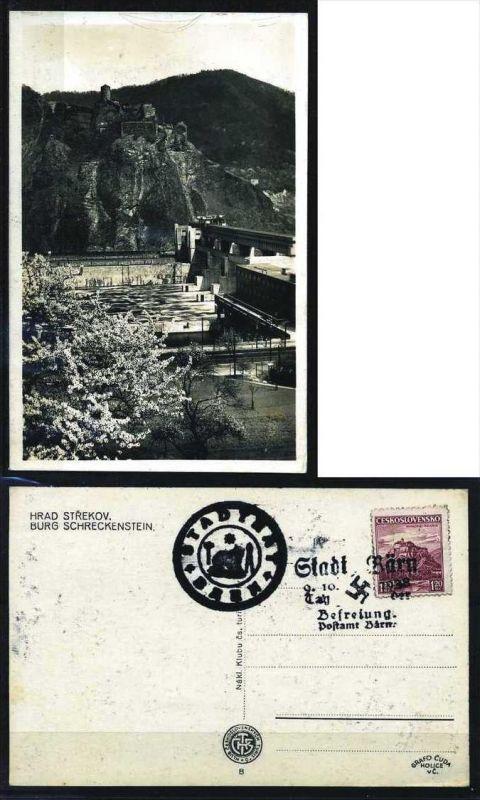 Z31427)Sudetenlend Fotokarte Burg Schreckenstein