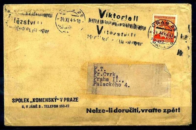 Z32948)B&M Brief mit Victoria-Stempel
