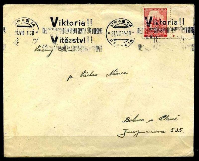 Z32949)B&M Brief mit Victoria-Stempel
