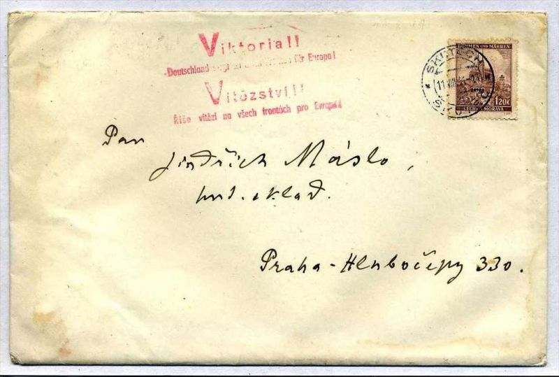 Z32953)B&M Brief + Inhalt mit Victoria-Stempel