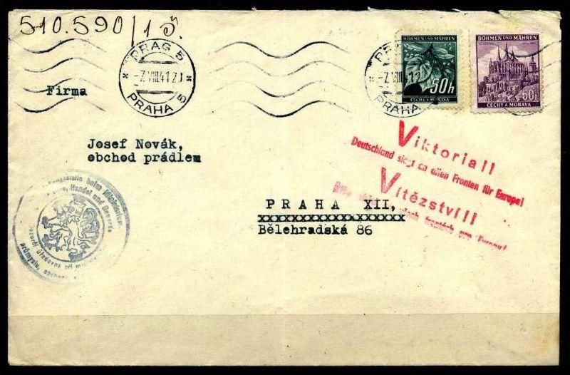 Z32954)B&M Brief mit Victoria-Stempel