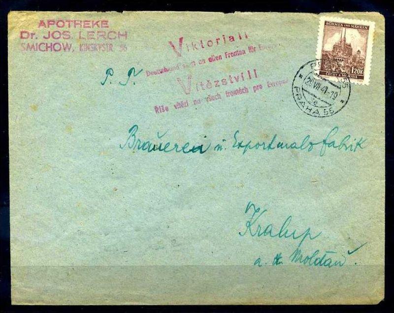 Z32956)B&M Brief mit Victoria-Stempel