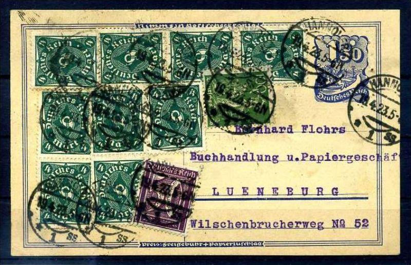Z38202)DR Infla-Bedarfs-GA 1923, gepr. INFLA