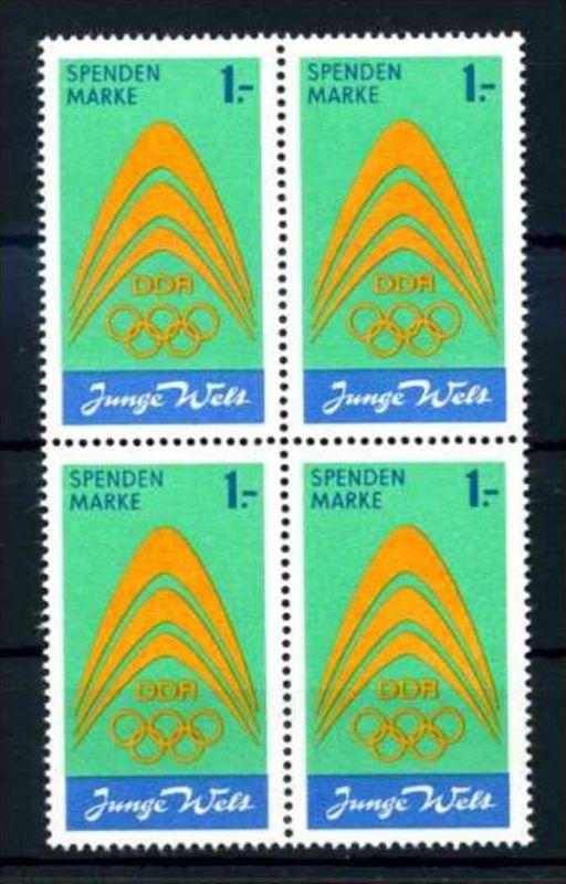 Z43845)DDR Spendenmarke I VB**, Olympia
