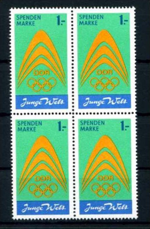 Z43846)DDR Spendenmarke I VB**, Olympia