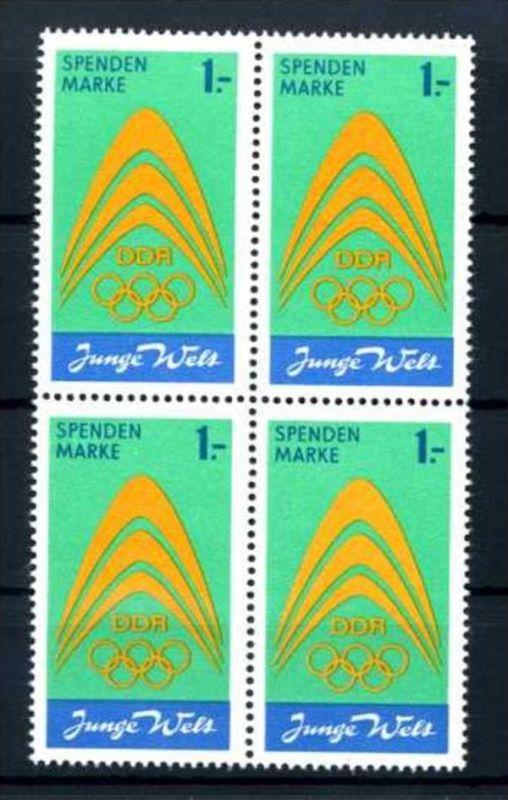 Z43847)DDR Spendenmarke I VB**, Olympia