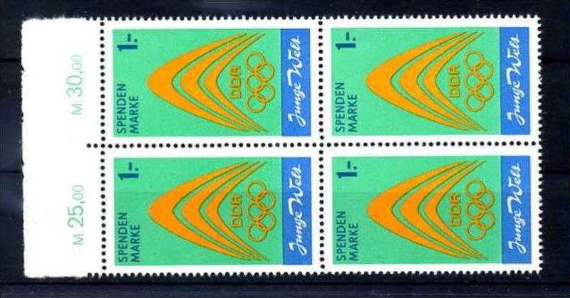 Z45261)DDR Spendenmarken I OR-VB**, Olympia