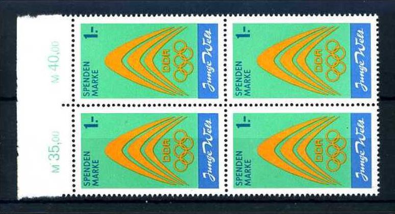 Z45262)DDR Spendenmarken I OR-VB**, Olympia