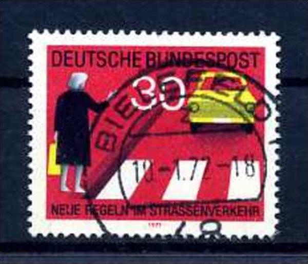 Z47467)Bund Plattenfehler 673 I gest.