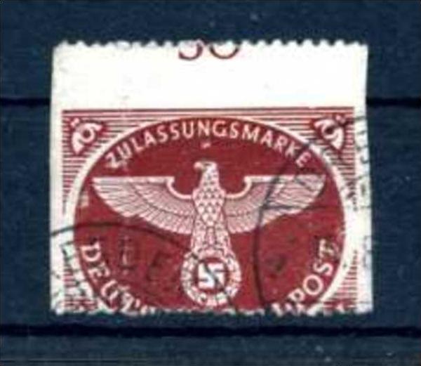 Z50987)DR Feldpost 2 B Totalverzähnung gest.