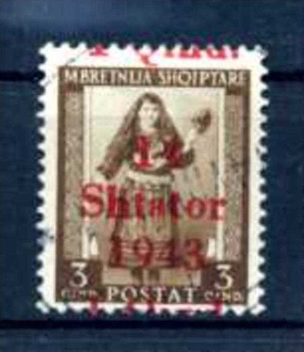 Z52269)Albanien 1 nette Abart gest.