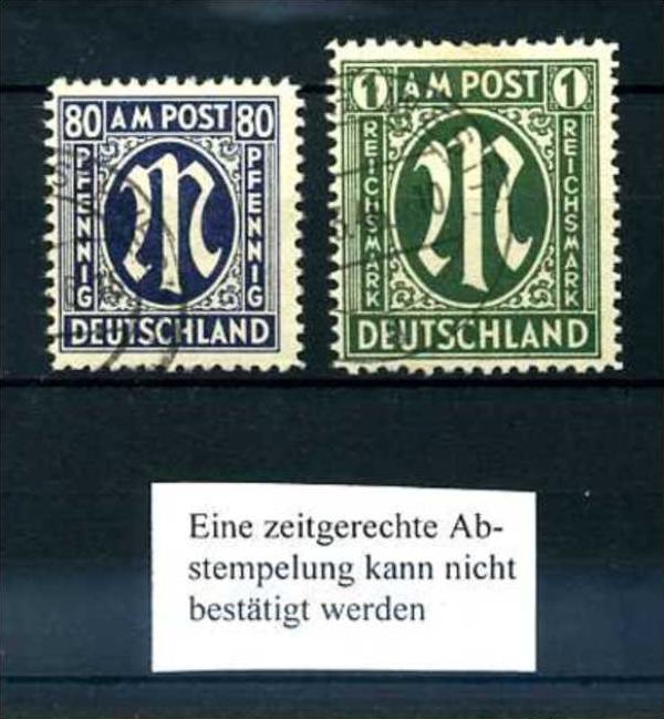Z58071)Bizone 34/35 gest., Stempel nicht prüfbar Nr. 581485653 ...