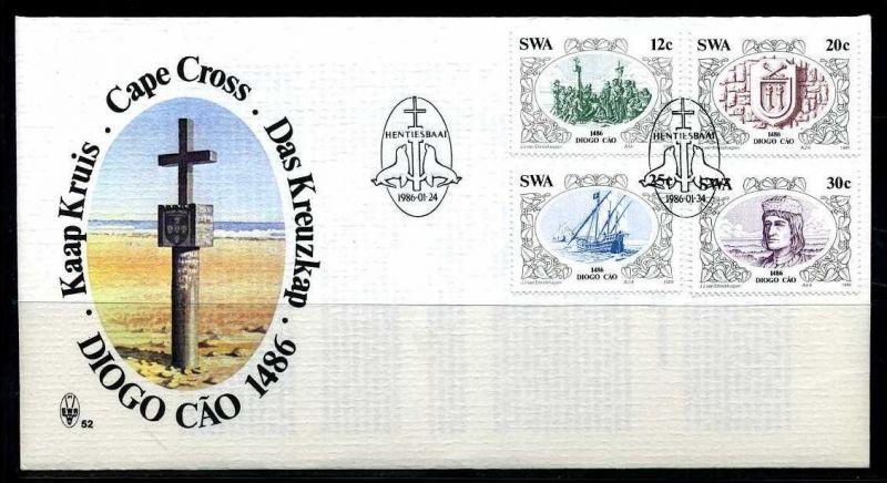 E01126)Namibia FDC 583/6 Diego Cao