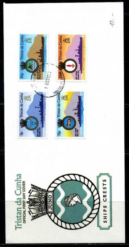 E01157)Tristan da Cunha FDC 216/9 Royal Navy
